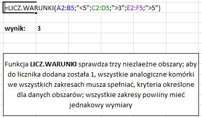 Excel - Zliczanie komórek – ILE.NIEPUSTYCH, ILE.LICZB, LICZ.PUSTE, LICZ.JEŻELI, LICZ.WARUNKI