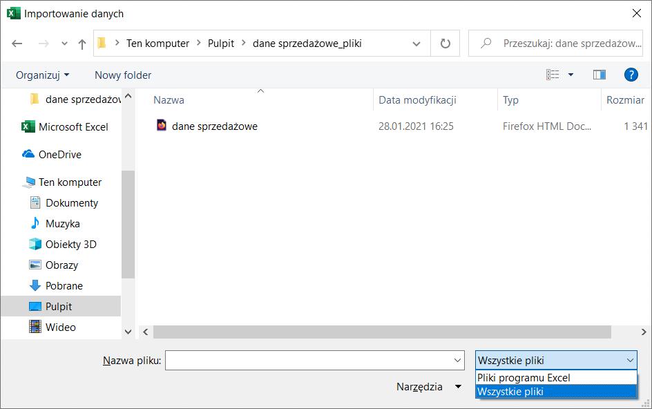 PDF w Excelu