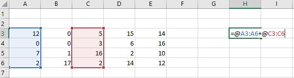 Dynamiczne formuły tablicowe